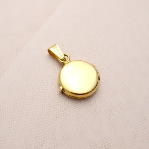 14k Gold Small Round Locket