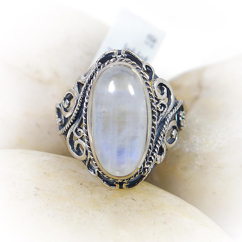 Oval Filigree Moonstone Ring
