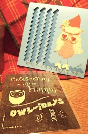For the owl enthusiast, we created cute owl cards and ornaments for the 2013 Christmas season