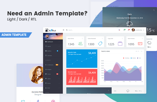 Purchase hi5 Dash BootStrap Admin Template