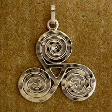 Sterling Silver Celtic Triskelion