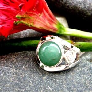 https://www.etsy.com/listing/294305889/green-aventurine-silver-ring-aventurine