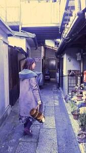 合槌神社への路地