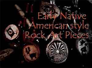 古代アメリカ先住民ペトログリフペンダント
