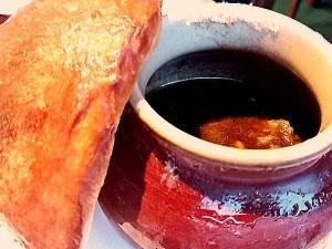 レストランキエフビーフシチューの壺焼き
