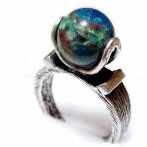 ブルーオパール地球のリング