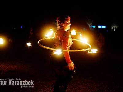 Fire SPinning Burning Seed
