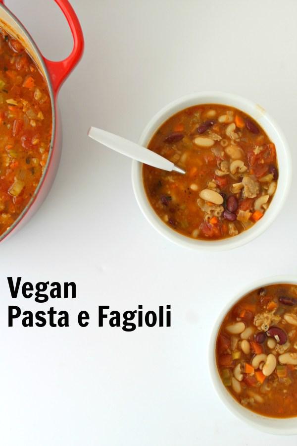 vegan pasta e fagioli