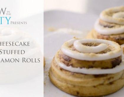 Video Recipe: Cheesecake Stuffed Cinnabuns