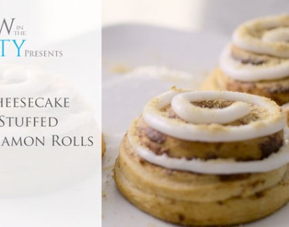Video Recipe: Cheesecake Stuffed Cinnabuns