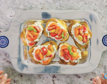 50 Second Yom Kippur Break Fast Recipe: Challah Bruschetta