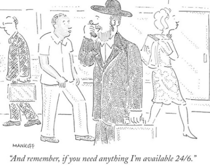 Hasids in New Yorker Cartoons & Other Orthodox Jews in the News
