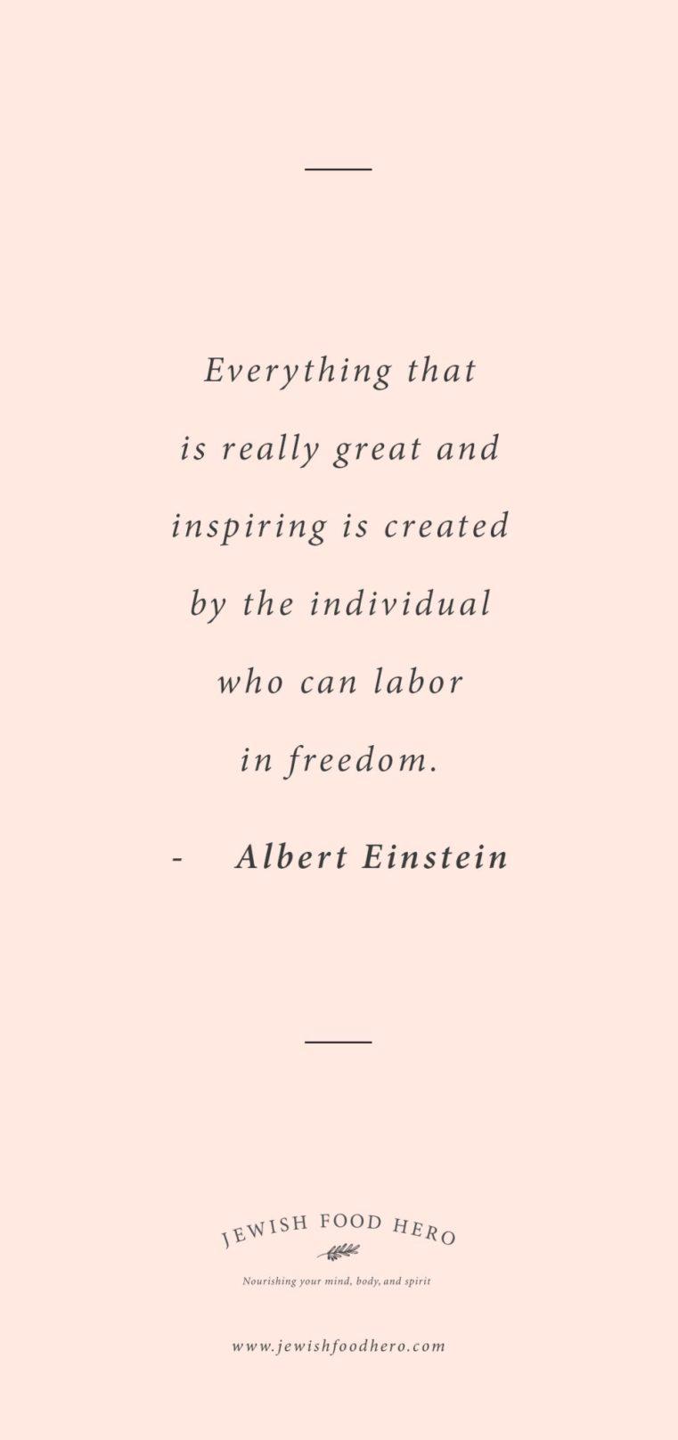 Quotes on Freedom, Jewish Quotes on Freedom, Albert Einstein