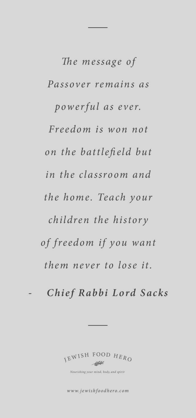 Chief Rabbi Lord Sacks, Jewish quotes on freedom