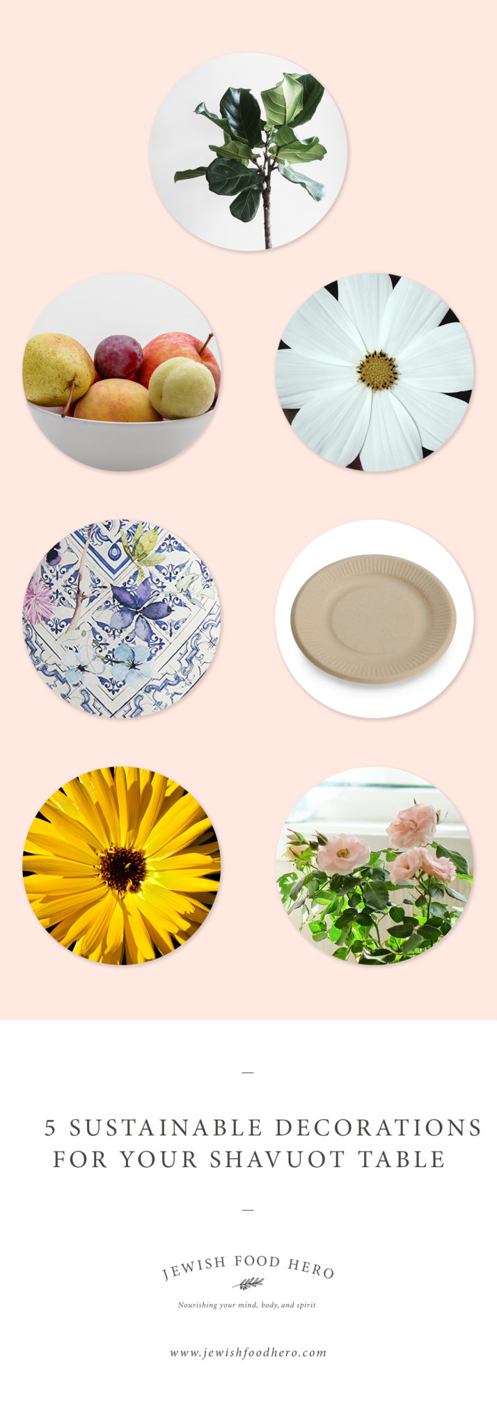 sustainable decorations for Shavuot table, decoration ideas for Shavuot