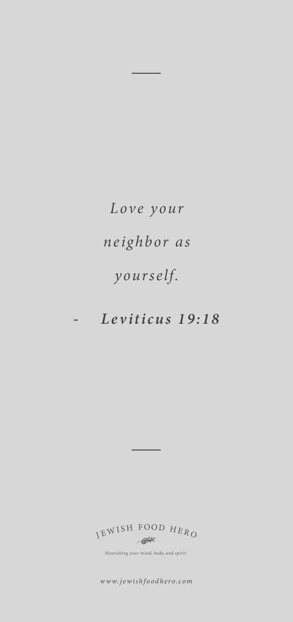Leviticus 19:18 Quote