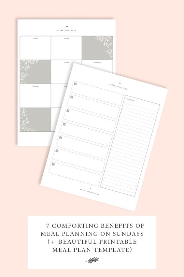 Benefits of Meal Planning - Header