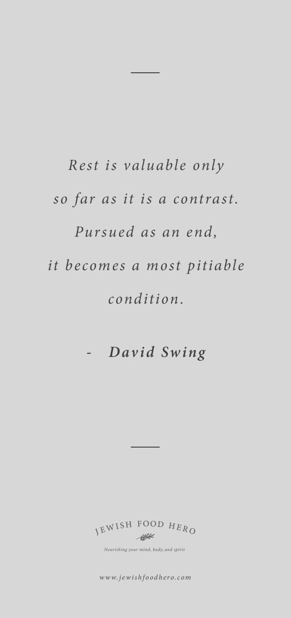 Shabbat Shalom 12 January - David Swing Quote