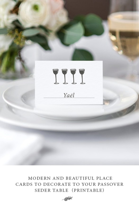 these passover place cards are beautiful and practical they add a decorative design element to your table and also allow you to intentionally place guests - Table Place Cards