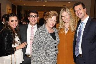 L-R Lisa Stern, AJ and Yael Stern, Johnny and Rochie Heller