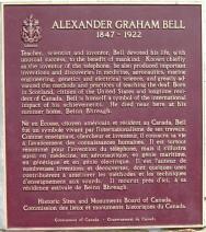 Alexander Graham Bell Museum Plaque