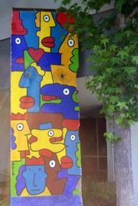 Chunk of Berlin Wall illustrated by Thierry Noir