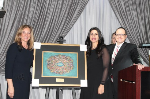 Amy Leibowitz, Vardit Aharonoff and Rabbi Mordechai Shifman
