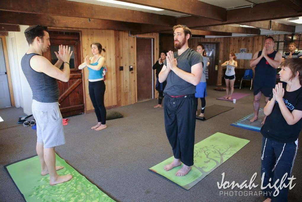marcus freed prepares singles for yoga class