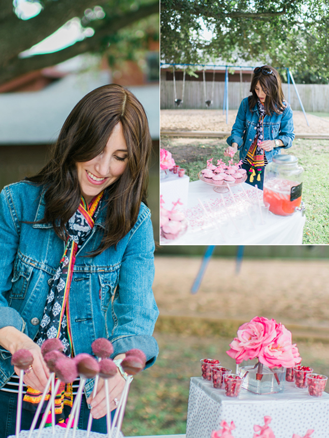 Yael styling birthday party for 7 year old girl