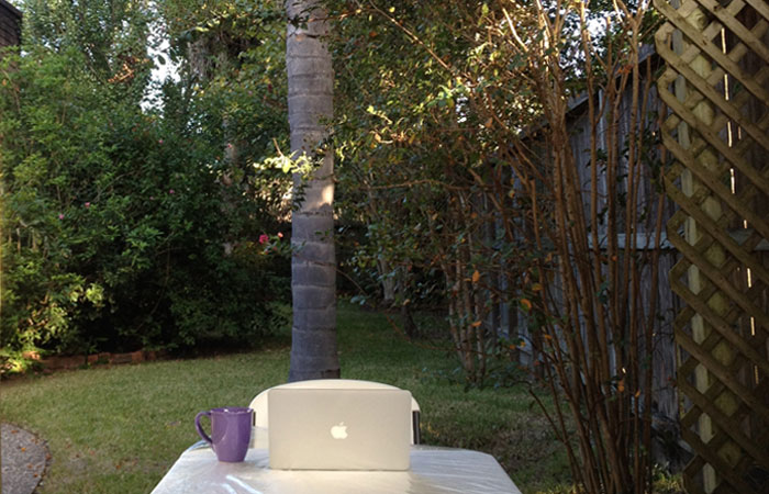 Sitting in my Sukkah…