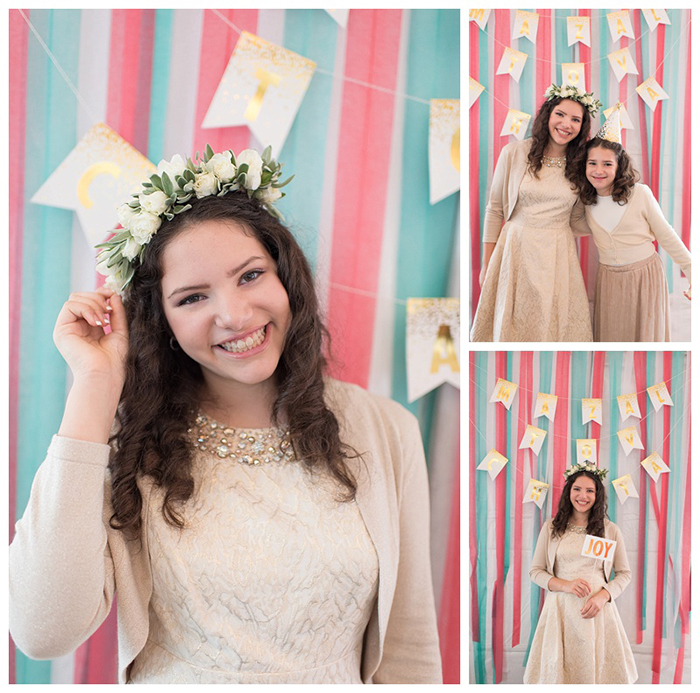Mint and Coral Backdrop for Party