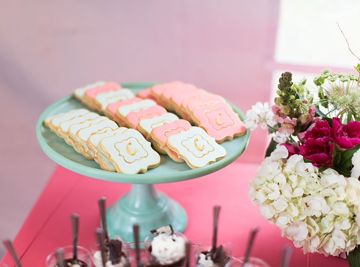 Coral and Mint Cookies