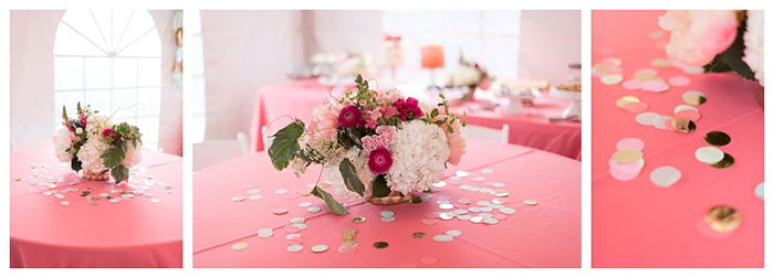Flower Centerpieces for Coral Party