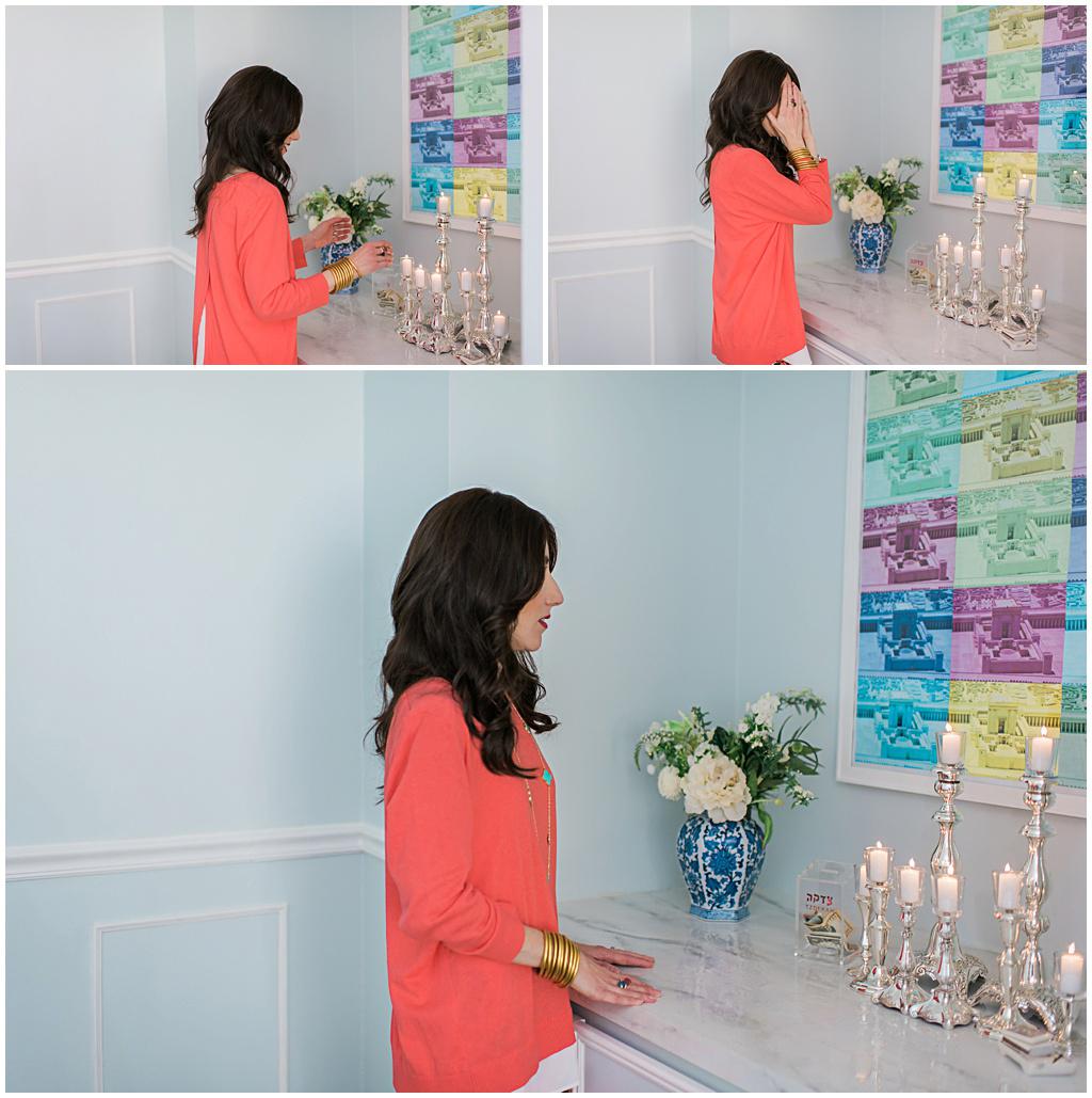 Shabbat candle lighting Jewish Latin Princess