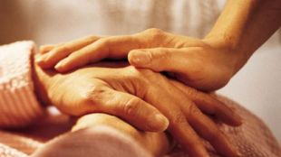Caregiver hands