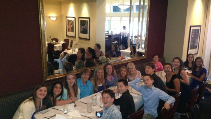 """The """"Jew Crew"""" gets together for dinner"""