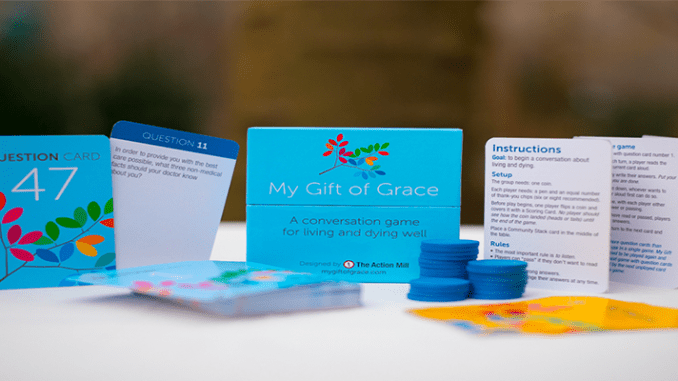 """""""My Gift of Grace"""" is a card game designed to facilitiate family discussions about death and dying. Its creators, Nick Jehlen and Jethro Heiko, founders of The Action Mill design firm, are guests on this week's Boomer Generation Radio program"""
