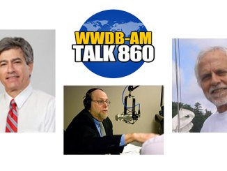 April 7, 2015 guests on Boomer Generation Radio are gerontologist Dr. David Laskin, left, and Tony Junker from the Envision Peace Museum