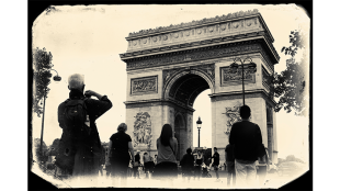 Arc De Triomphe, Paris, vintage photo effect. Steve Lubetkin Photo, Copyright ©2013. Used by permission.