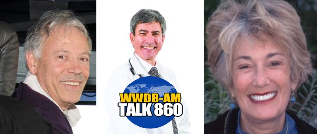 Steve (left) and Marcia Plotkin (right) and Dr. David Laskin, (center) are the guests on the May 17, 2016 Boomer Generation Radio show.