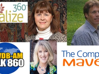 Boomer Radio guests this week are (clockwise from top left): Diane Cox and Neil Beresin from Vitalize360.org; and Nancy Isaacs, the Computer Maven