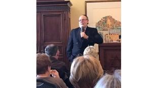 Rabbi Address leading scholar-in-residence discussion at Kol Tikvah, Parkland, FL (Courtesy Rabbi Melissa Zalkin Stollman)
