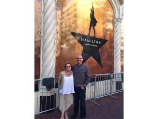Sandy Taradash attending Hamilton with her son, Randy.