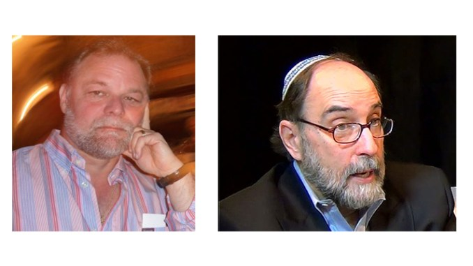 Rabbi David Levin, left, and Rabbi Simcha Raphael, guests on the 11/7/2017 Jewish Sacred Aging Radio Show