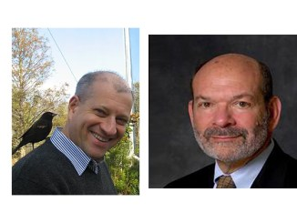 Rabbi Dana Evan Kaplan, left, and Rabbi Peter Knobel, both authors of new books, are guests on the Feb. 20, 2018 Jewish Sacred Aging Radio show.