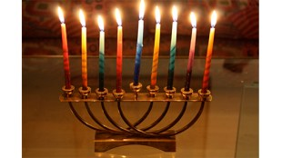 Eighth Night Menorah (Scazon Photo/Flickr.com, under Creative Commons License)