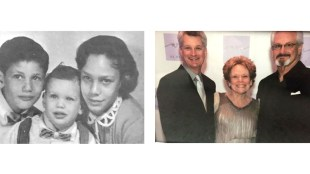 Sandy Taradash and her brothers, 1958 and 2017