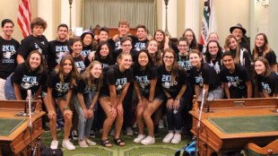 Sandy Taradash's granddaughter joined friends from Camp Newman's Hevrah group of 15-year-olds lobbying in Sacramento for Criminal Justice and Immigration Reform