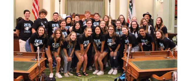 Sandy Taradash's grandchildren joined friends from Camp Newman's 15 year old Hevrah group lobbying in Sacramento for Criminal Justice and Immigration Reform