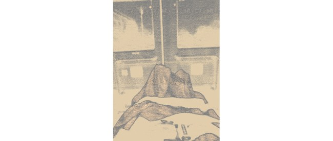 """In the Ambulance,"" sketch from a photo by Carole Leskin"